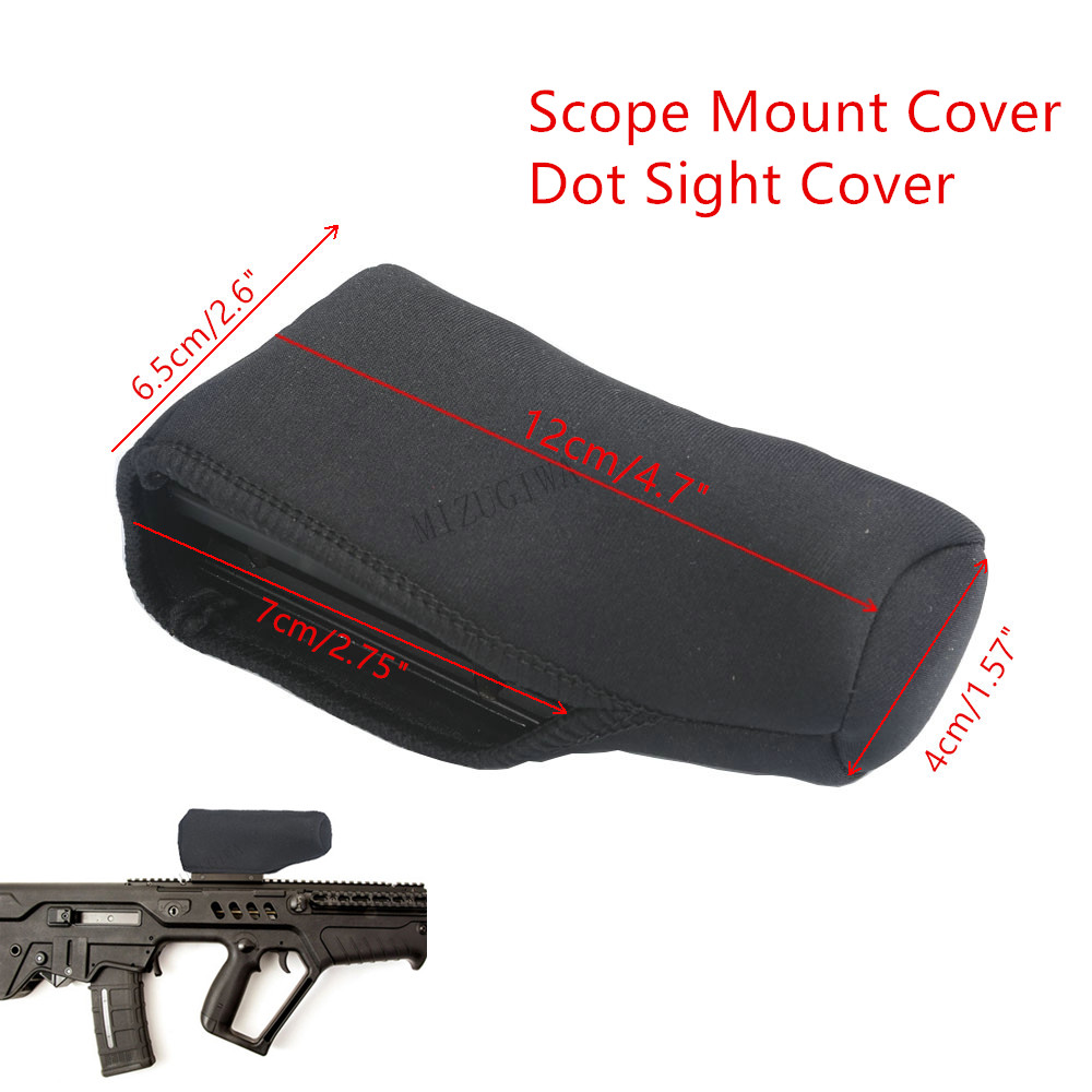 Scope Cover Dot Sight Cover Protect Neoprene Scope Cover Protective Jacket Black 4.7