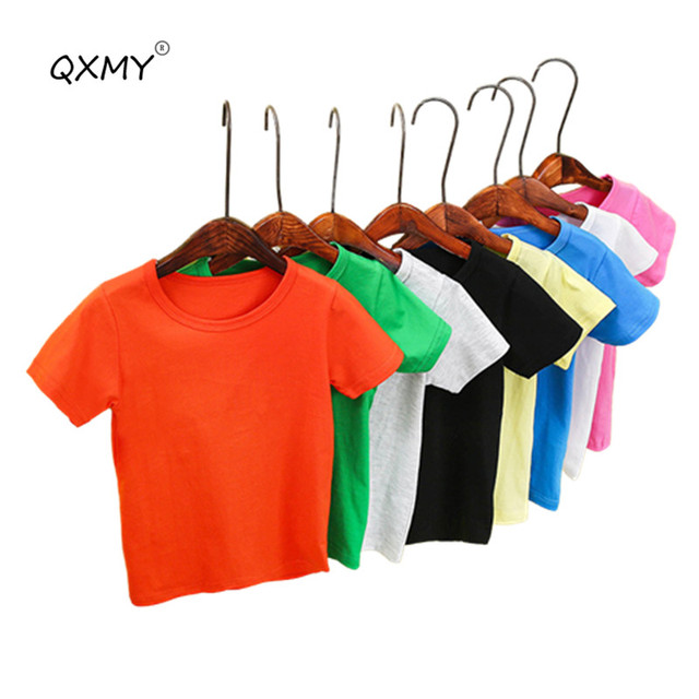 50b37ac3 New Summer Cotton T Shirt For Boys Girls Candy Color T shirt 2 8 ...