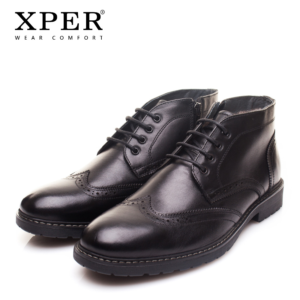 XPER Brand New Genuine Leather Men Boots Fashion Cow Leather Men Shoes Solid Black Warm Plush Men Winter Shoes XYWD22761BLXPER Brand New Genuine Leather Men Boots Fashion Cow Leather Men Shoes Solid Black Warm Plush Men Winter Shoes XYWD22761BL