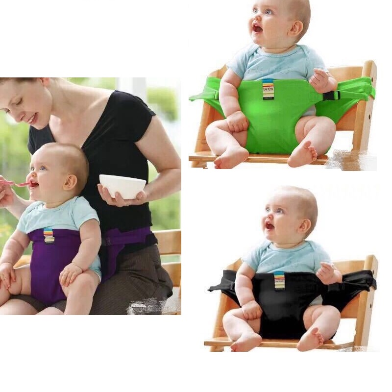 Baby Dining Chair Safety Belt Portable Seat Travel Foldable Chair Stretch Wrap Feeding Chair Dinning Cover Seat Safety Belt