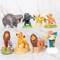 8pcs/Set 8cm The Lion King Simba Nala Timon Model Figure PVC Action Figures Classic Toys Birthday Gift For Kids