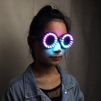 Full Color LED Glasses Rainbow Colors Super Bright Rave EDM Party DJ Stage Laser Show Sunglasses Goggles
