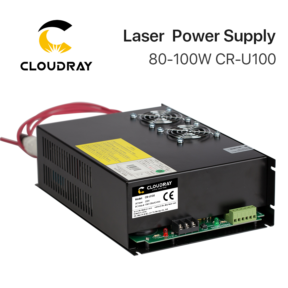 Cloudray 80 100W CO2 Laser Power Supply for CO2 Laser Engraving Cutting Machine CR U100 U
