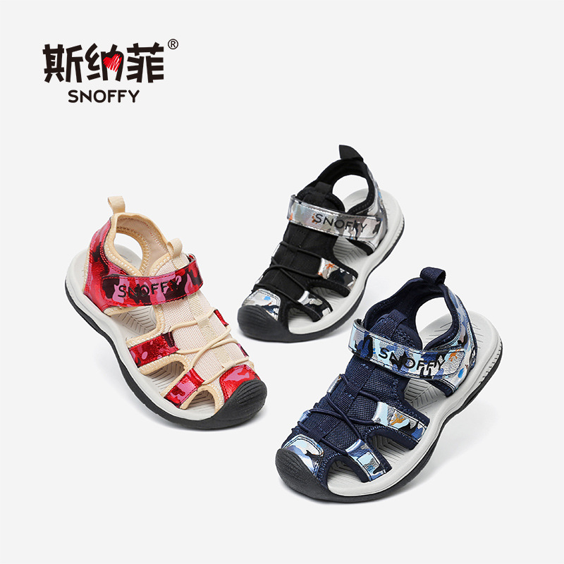 Snoffy Brand Sports Sandals For Boy Summer Kids Sandals Orthopedic Footwear Children Boys Casual Shoes Closed Toe TX363