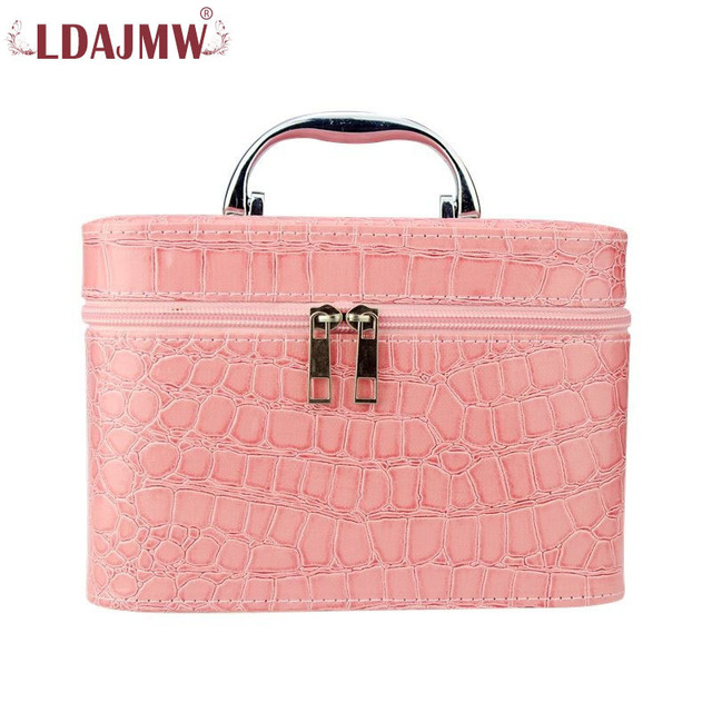 LDAJMW Women Cosmetic Case Fashion Cosmetic Bags Jewelry Box Makeup Bag  Travel bags 35da4570246b3