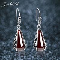 JIASHUNTAI Vintage 100% Silver Earring Female 925 Sterling Silver Jewelry Long Earrings for Women