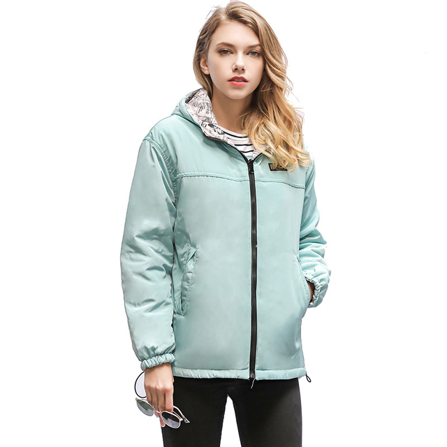 2018 New Female Navy Coats Two-faced Cotton Jackets Long Sleeve Women Outwear Hoodie Parkas Fashion Cute Girl Feminine Clothing