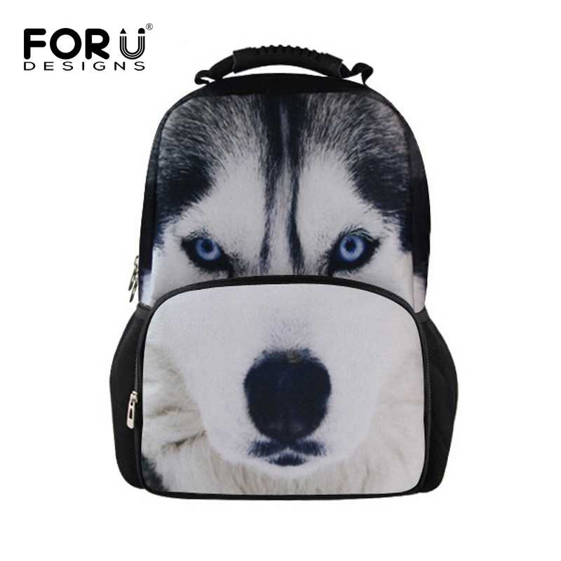 e355f1905cea FORUDESIGNS Cool Animal Owl Wolf Backpacks Children 3D Printing School  Backpack for Teenagers Boys Men s Travel Bag Kids Mochila