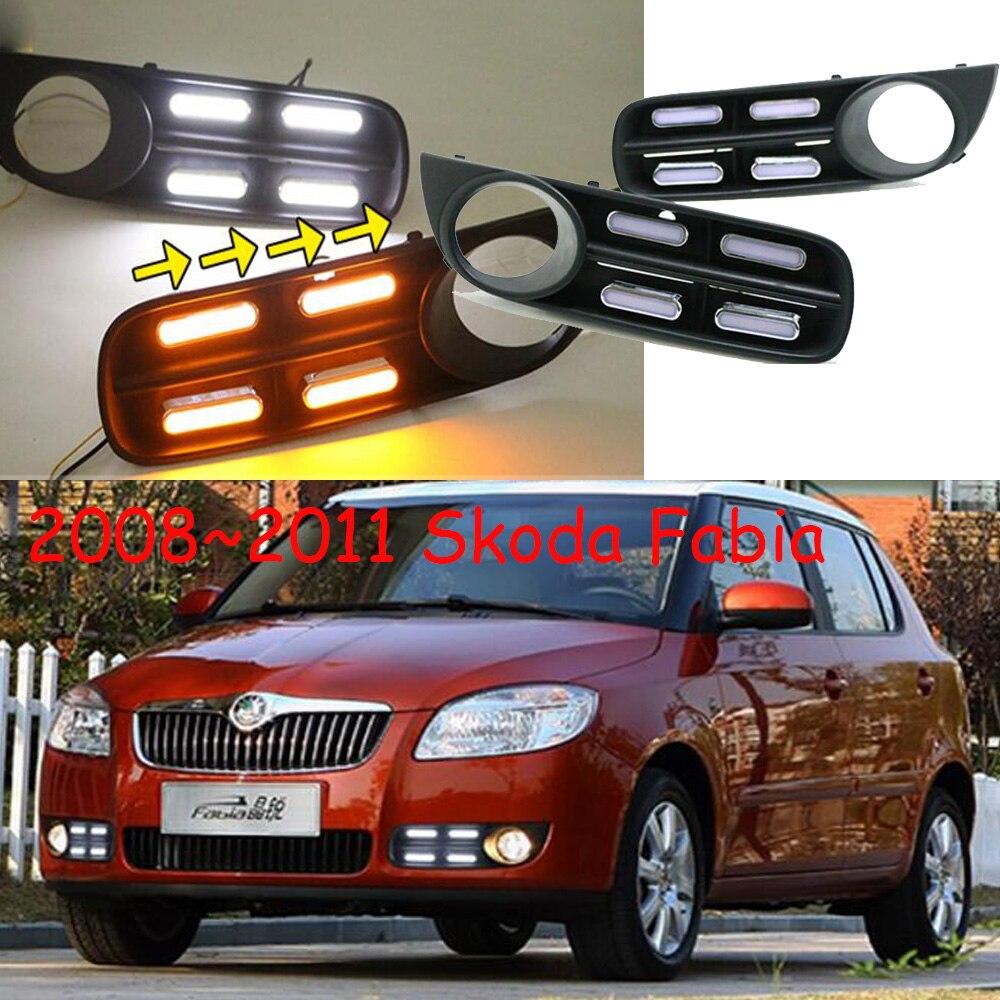 car styling,Fabia daytime light;2008~2011,Chrome,Free ship!LED,Fabia fog light,Superb;Rapid,Octavia,motorcycle