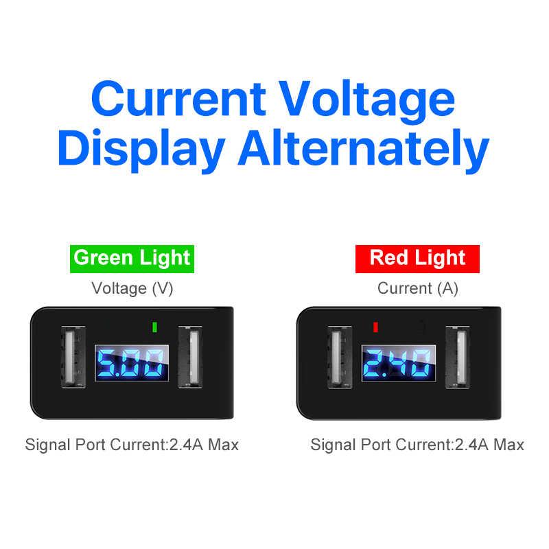 Быстрое зарядное устройство светодиодный дисплей Dual USB телефон зарядное устройство 2.4A Быстрая зарядка EU штекер мобильный путешествия настенный адаптер для iPhone X iPad samsung зарядное устройство для телефона
