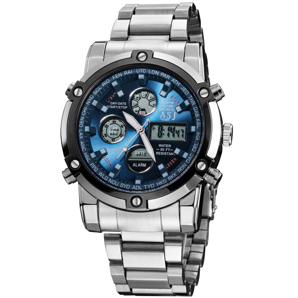 Prix pour Top marque de mode conception numérique LED homme mâle classique horloge armée cool sport militaire armée bracelet à quartz cadeau d'affaires montre 110