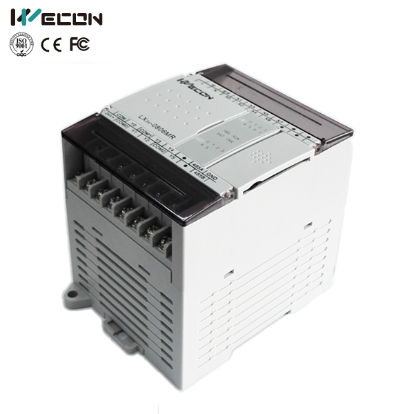 Wecon 140I/O relay output type plc for brand hmi plc af 10mr a2 with hmi 85v 240vac 6 points ac input 4 points relay output