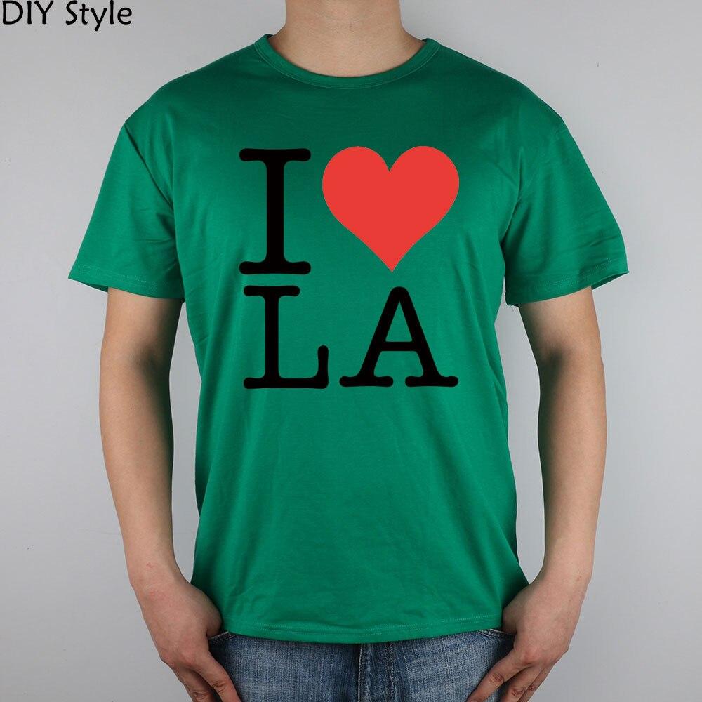 Я люблю Лос-Анджелес La футболка с короткими рукавами высокого качества Модная брендовая футболка