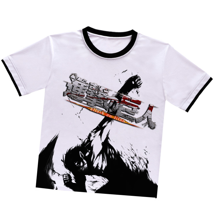 Attack on Titan Eren Jager O-Neck T-shirt anime short-sleeved T-shirt summer cosplay