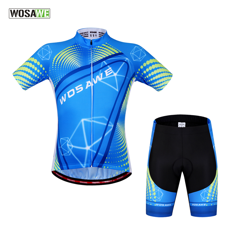 цена на WOSAWE Summer Breathable Cycling Set MTB Bike Clothing Racing Bicycle Clothes Maillot Ropa Ciclismo Cycling Jersey Sets