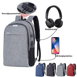 Image 2 - Shellnail Wasserdichte Laptop Tasche Reise Rucksack Multi Funktion Anti Diebstahl Tasche Für Männer PC Rucksack USB Lade Für Macbook IPAD