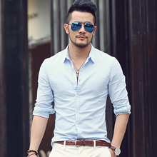 Casual Hawaiian Shirts Men Cotton Linen Designer Brand Slim Fit Man Shirts Long Sleeve White Shirts For Men Clothes Spring S1098