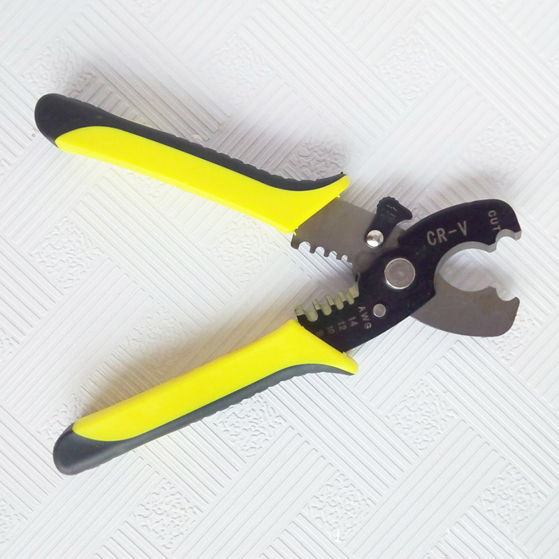Alicate multifuncional ferramenta 18cm fio stripper cabo tesoura de corte cortador de descascador de fio 1.6-4.0mm mão toolspak55