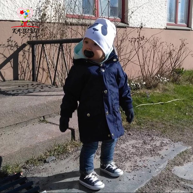 Kamimi 2017 New Fashion Baby Dust Coat Windproof for 2-5 Years Baby Boys Girls Full EUROPE Style Wind Coat Toddler Children A385