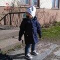 Kamimi 2017 Nuevo Bebé de La Manera Capa de Polvo A Prueba de Viento de 2-5 Años Niños bebés Niñas Completo Estilo de EUROPA Viento Abrigo Niño Niños A385
