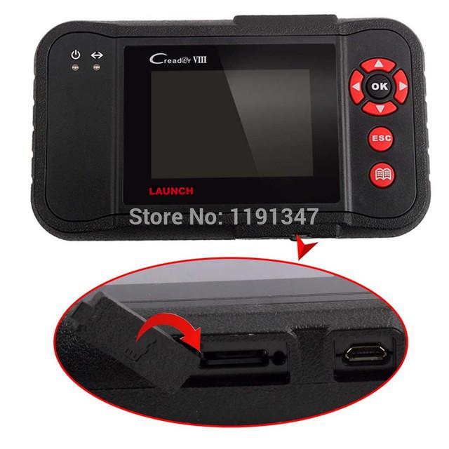 Lo nuevo escáner launch 8 creader viii 4 sistema scaner automotriz auto scan tool mejor que launch x431 pro scanner automotriz