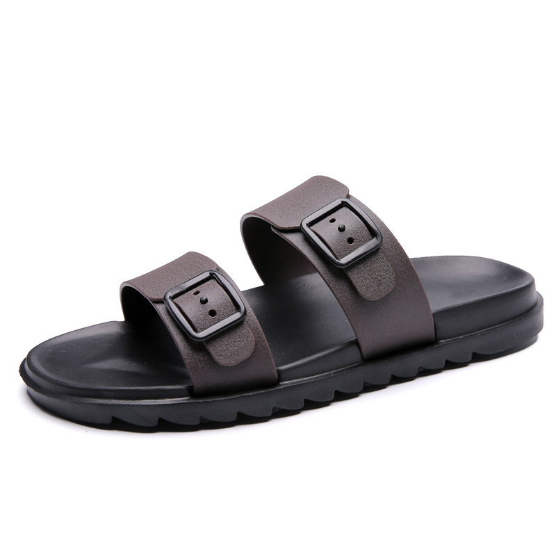 Men Beach Slippers 2019 Summer Flat Shoes Man Slip On Indoor Outside Slipper Non-Slip Sole Male Casual Sandals Big Size EU40-44