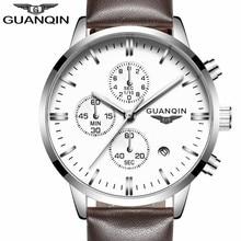 Mens Watches Luxury Military Sport Luminous Wristwatch Chronograph Leather Quartz Watch
