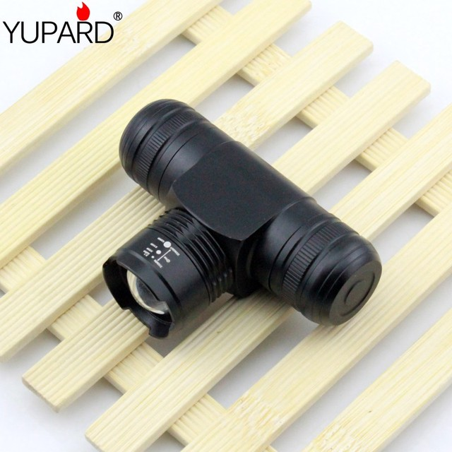 YUPARD T6 LED Headlamp Headlight 1000Lum Zoomable Zoom IN/OUT Adjust  5 Mode Waterproof 3xAAA  1x18650 rechargeable battery camp