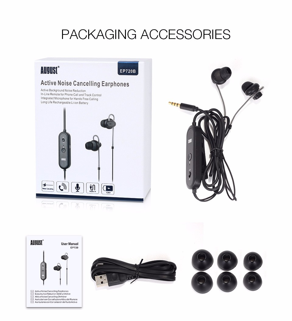 EP720 Active Noise Cancelling Earphone