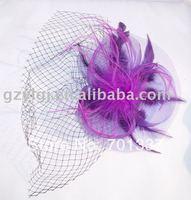 Wholesale Lingerie Costume Party Fascinator Purple H21