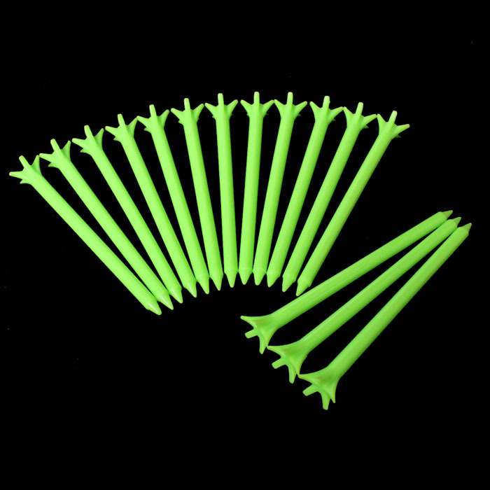 Andux Golf zero Friction 5 Prong Tees 100 Pack Green 3 1/8