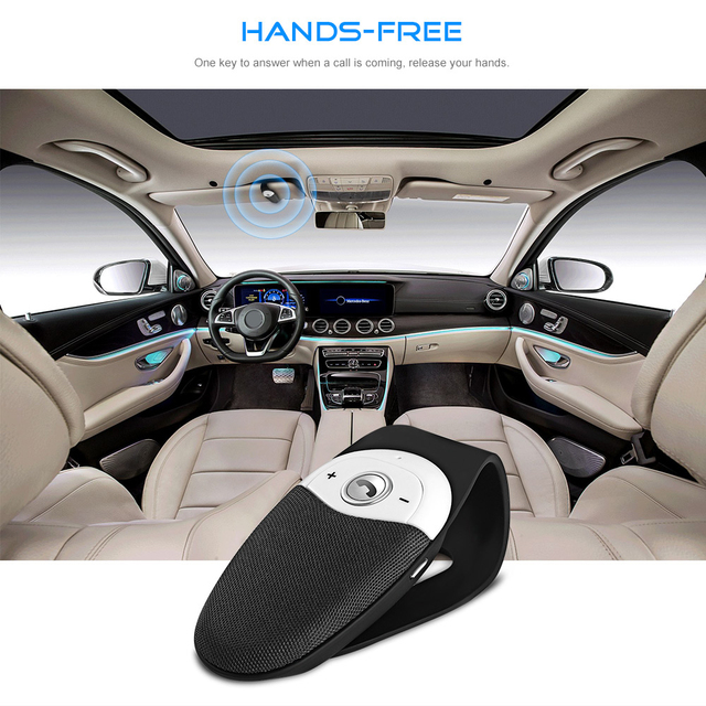 Wireless Handsfree Answer Call Bluetooth Car Kit Audio Adapter Stereo Music Receiver...