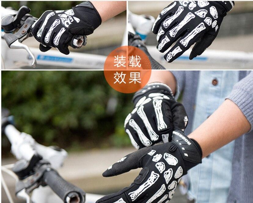 Yeni siyah Kafatası Pençe Eldiven Yarış Motosiklet Kemik İskelet - Spor Giyim ve Aksesuar - Fotoğraf 5