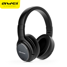 AWEI A950BL Wireless Bluetooth Earphone Headphone With Microphone Noise Cancelling Stereo Gaming Headset Headphones For Phones bluedio ht shooting brake bluetooth headphone bt4 1 stereo bluetooth headset wireless headphones for phones music earphone