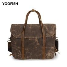 YOOFISH Hot selling Classic Canvas Men Brown/Army green/Gray Handbag Shoulder bag Crossbody Free Shipping XZ-058