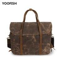 935f0ab88 YOOFISH Hot Selling Classic Canvas Men Brown Army Green Gray Handbag  Shoulder Bag Crossbody Bag Free
