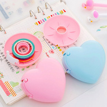 New Washi Tape Cutter Candy Color Masking Tape Cutter Design Of Love Heart/Donut Shape Cute Clear Tape Dispenser Washi Holders