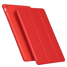 Silicone Soft Back PU Leather Smart Cover for iPad Case 9.7