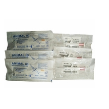 Free Shipping   x1pc  Animal ID Reader ISO11784/5+x100pcs 2.12*12mm Stanard ISO Chip/ with veterinary syringe