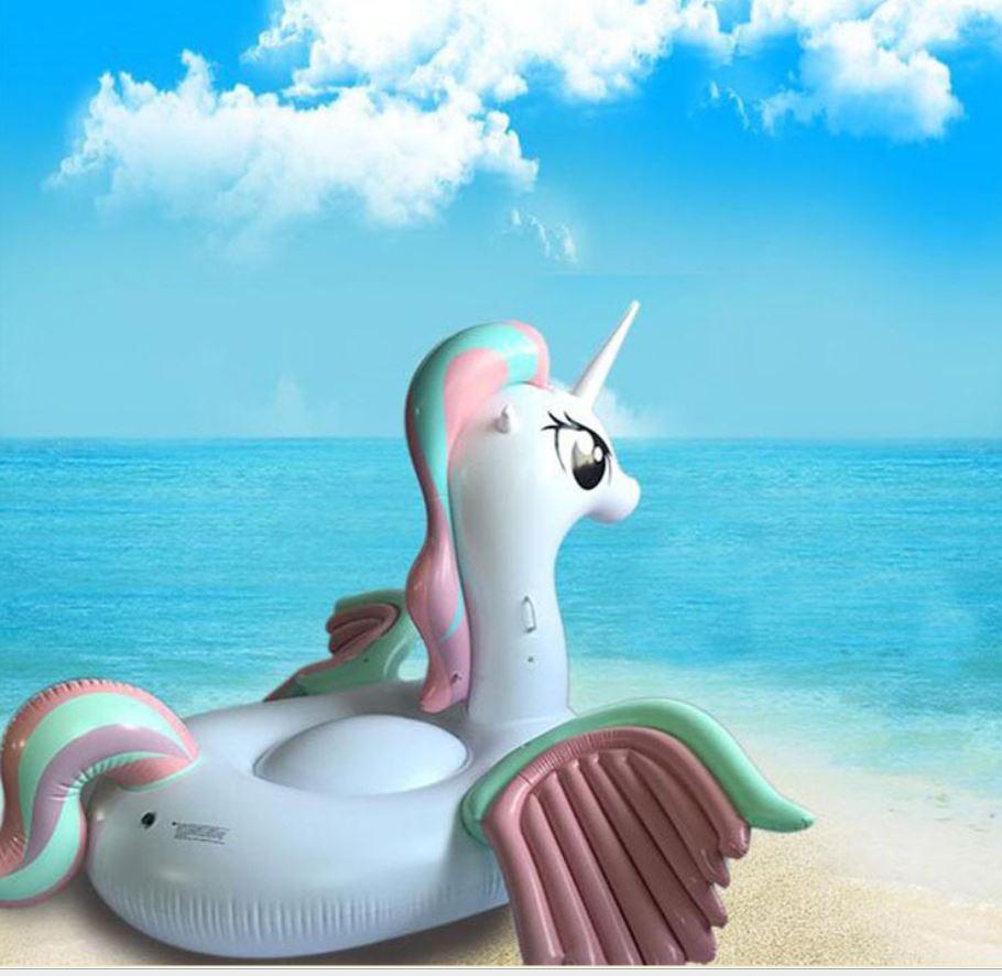 2017 Hot Sale Inflatable Unicorn Giant Pool Float Swimming Float For Adult Tube Raft Swim Ring