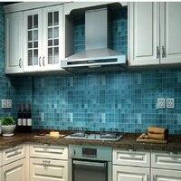 PVC קיר מדבקת טפט דביק עמיד למים רחצה מטבח מדבקות אריחי פסיפס לקירות מדבקות קישוט בית