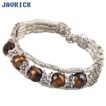 JAVRICK Tibetan Tibet Tiger Eye Stone Bracelet Bangle 0.66 17mm hot