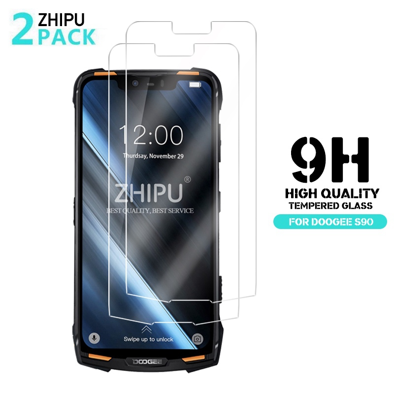 2 Pcs Tempered Glass For Doogee S90 Pro Glass Screen Protector 2.5D 9H Premium Tempered Glass For Doogee S90 Protective Film(China)