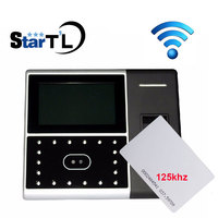 ZK Iface302 Fingerprint Time Attendance With Access Control TCP/IP Biometric Face Fingerprint 125khz Rfid Card with WiFi
