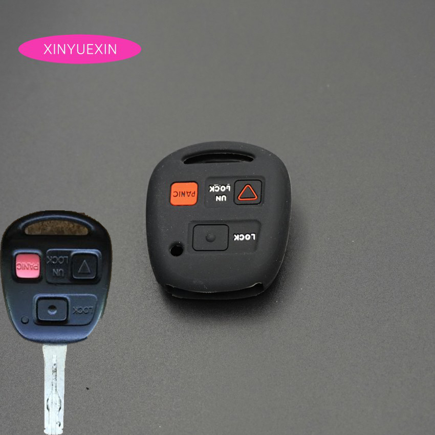 3Buttons Silicone Remote Key Fob Cover Case Fit For Lexus Gx470 Rx350 Es300