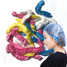 50Pcs Disposable Shower Cap Plastic Waterproof Transparent Color Hat Hotel For Travel Home One Time Bathroom Products