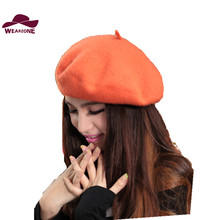 New Winter women hat Vintage Berets wool 32colors Caps pillbox hat gorras planas hombre Hats Beret