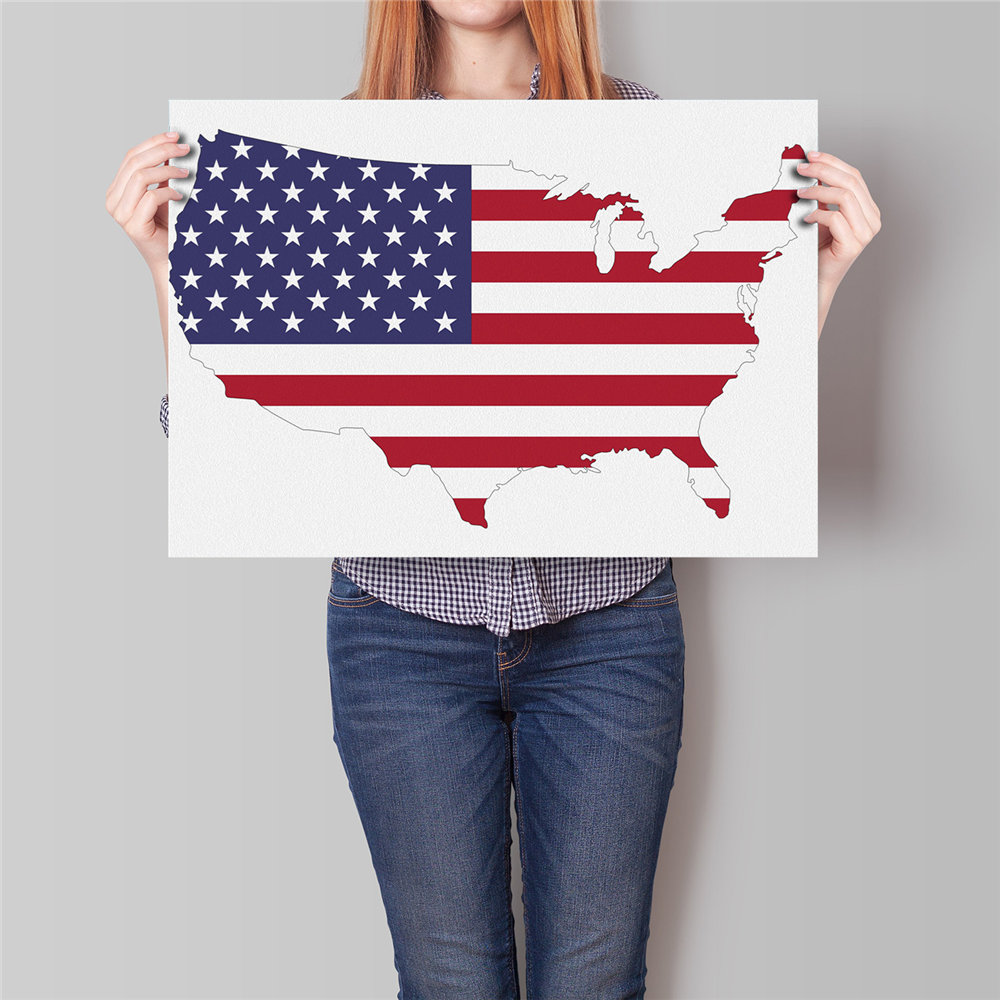 Online Get Cheap America Map Poster Aliexpresscom Alibaba Group - Poster map of usa