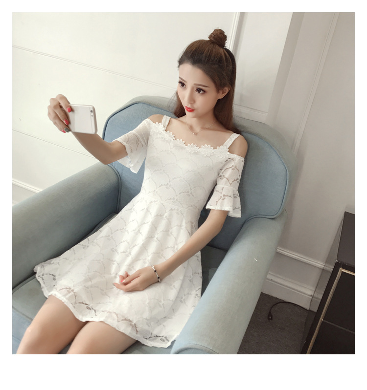 18 New fashion women summer lace sexy dress white Korean style clothes for womens vestido de festa mini white clothings 9