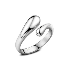 2017 Free Shipping 925 Sterling-Silver Open Rings For Women Cute Jewelry Beautiful Adjustable Rings For Gift Anel Wholesale